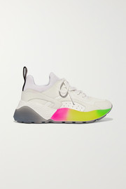 Stella McCartney Eclypse logo-woven faux leather, suede and neoprene sneakers