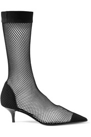 Stella McCartney Fishnet, faux suede and PU sock boots
