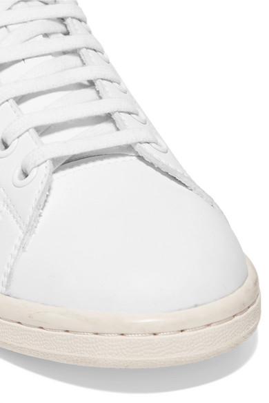 half off bacdd 9a128 Stella McCartney | + adidas Stan Smith grosgrain-trimmed ...