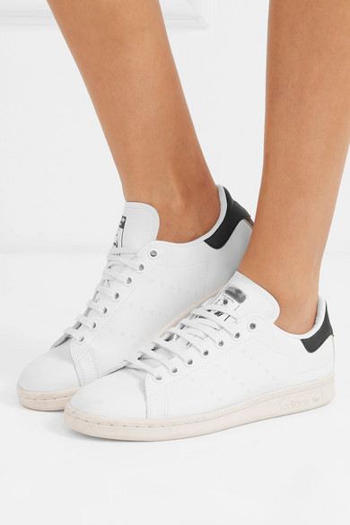 bbeac4674d6f Stella McCartney. + adidas Stan Smith grosgrain-trimmed faux leather  sneakers