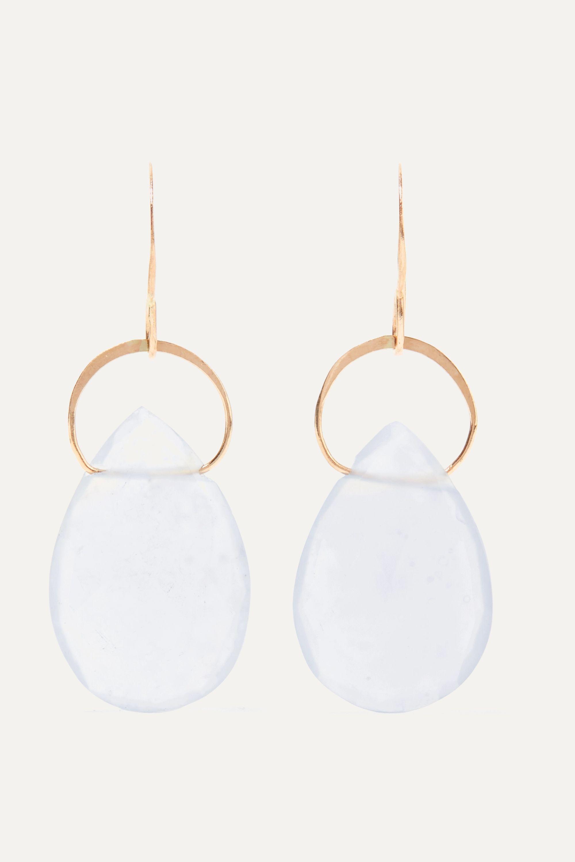Melissa Joy Manning 14-karat gold chalcedony earrings
