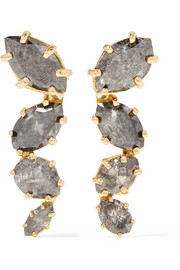 Melissa Joy Manning 18-karat gold diamond earrings
