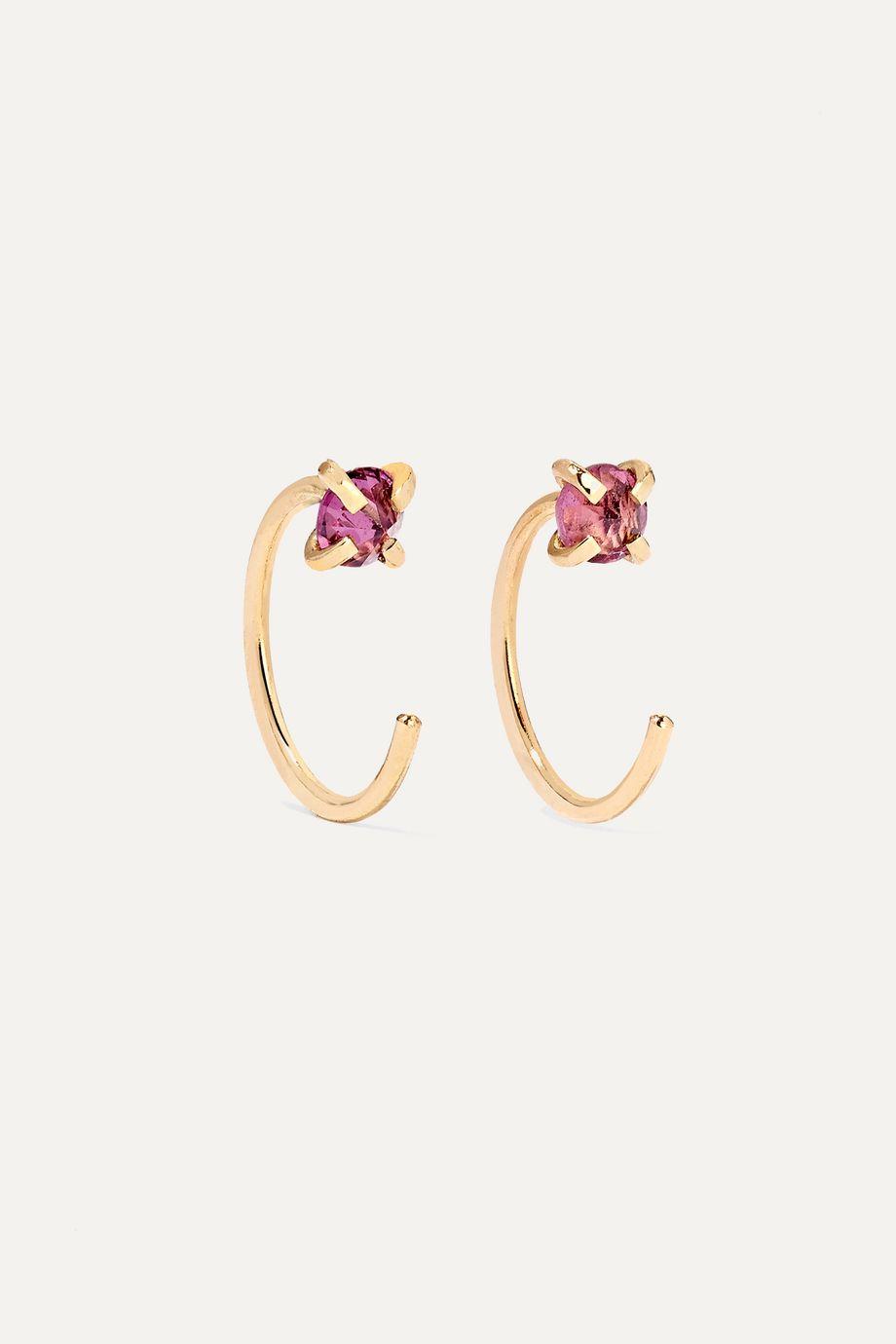 Melissa Joy Manning 14-karat gold rhodolite garnet earrings