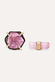 Melissa Joy Manning 14-karat gold tourmaline earrings