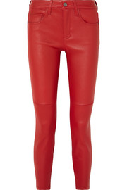 Current/Elliott The Stiletto leather skinny pants