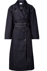 The HH Club belted double-breasted denim trench coat