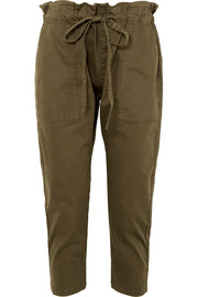 Current/Elliott The Tabloid cropped cotton-blend pants