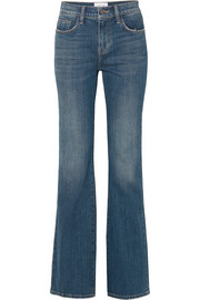 The Jarvis distressed high-rise flared jeans