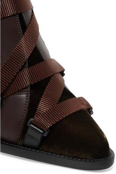 Chloé | Tracy und Ankle Boots aus Leder und Tracy Samt mit Gummi- und Canvas-Besätzen e9b825