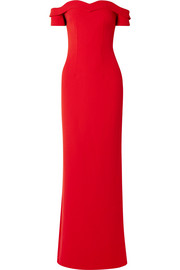 Safiyaa Zorya off-the-shoulder crepe gown