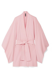 Norma Kamali Belted cotton-blend terry kimono