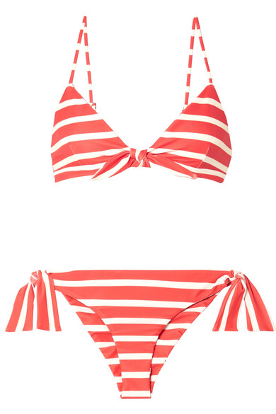 Taylor And Elsa Striped Triangle Bikini by Faithfull The Brand