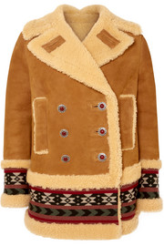 Etro Embroidered shearling coat