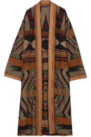 Etro Oversized metallic jacquard-knit cardigan