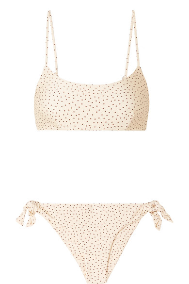 Lara And Elsa Polka Dot Bikini by Faithfull The Brand