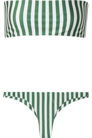 Faithfull The Brand Robin and Chrissy striped bandeau bikini