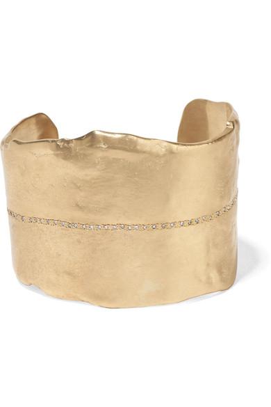 PASCALE MONVOISIN Gaby 9-Karat Gold Diamond Cuff