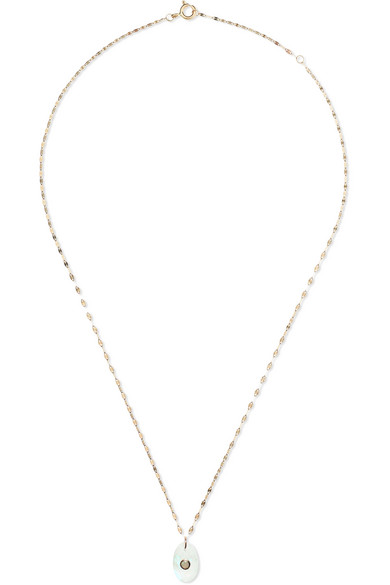 PASCALE MONVOISIN HOLI 9-KARAT GOLD, MOONSTONE AND OPAL NECKLACE