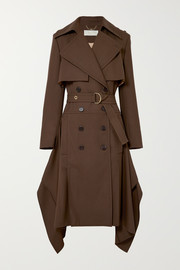 Chloé Double-breasted wool-gabardine trench coat