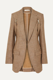 Chloé Buckled tweed blazer