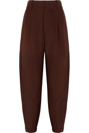 Chloé Silk crepe de chine tapered pants