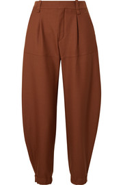 Chloé Wool-twill tapered pants