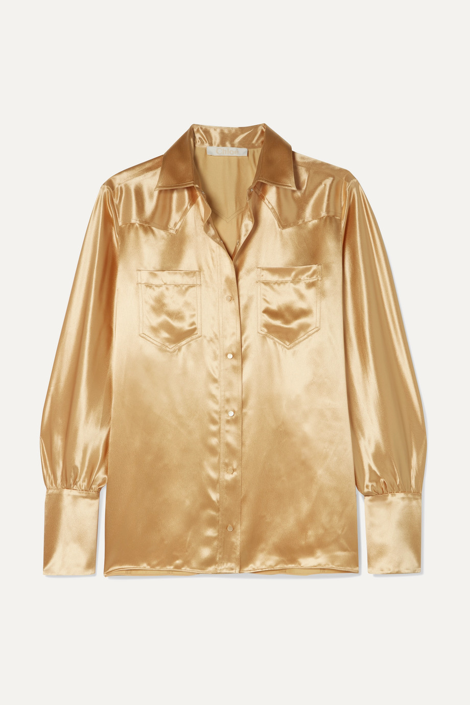 Chloé Metallic satin blouse