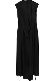 Hooded crepe maxi dress