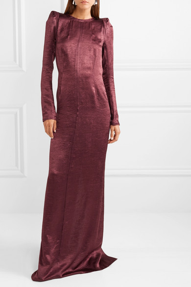 Ann Demeulemeester Dress Washed-satin maxi dress