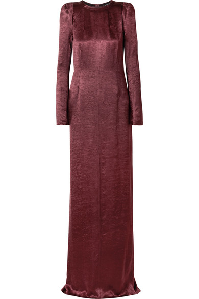 Ann Demeulemeester Dresses Washed-satin maxi dress