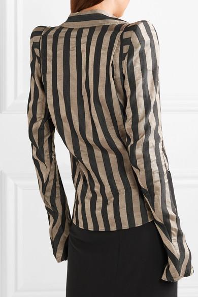 Ann Demeulemeester Shirts Striped satin-twill shirt