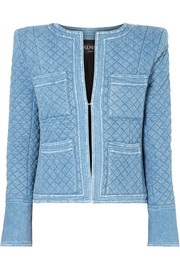 Balmain Quilted denim jacket
