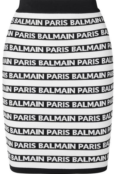530997fcf7b Balmain | Jacquard-knit mini skirt | NET-A-PORTER.COM