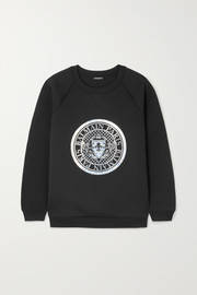 Printed neoprene sweatshirt