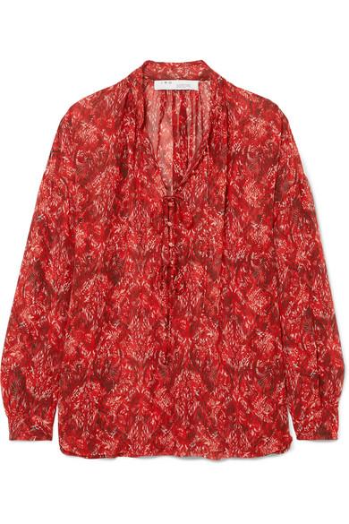 IRO - Vagabond Printed Chiffon Blouse - Red