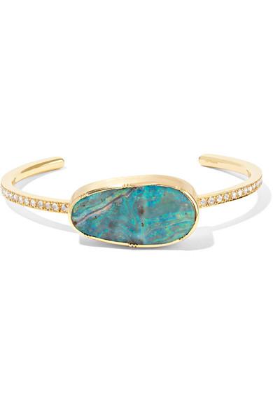BROOKE GREGSON 18-Karat Gold, Opal And Diamond Cuff