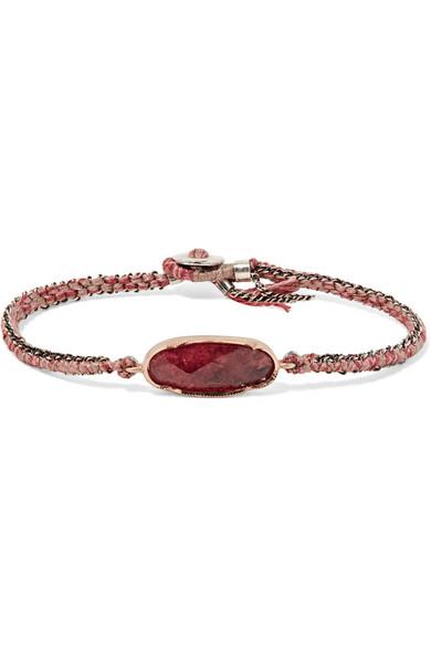 BROOKE GREGSON Icicle 14-karat rose gold, sterling silver and tourmaline bracelet