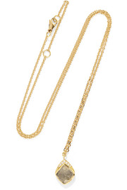 Kite Halo 18-karat gold diamond necklace