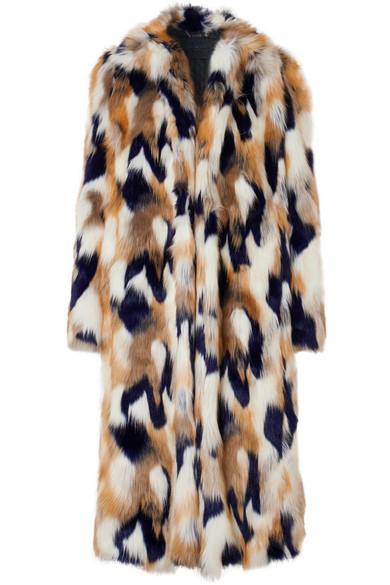 Faux Fur Long Coat in White