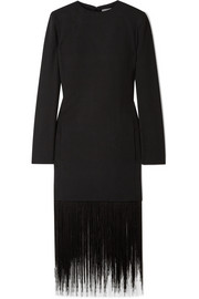 Givenchy Fringed wool-crepe dress