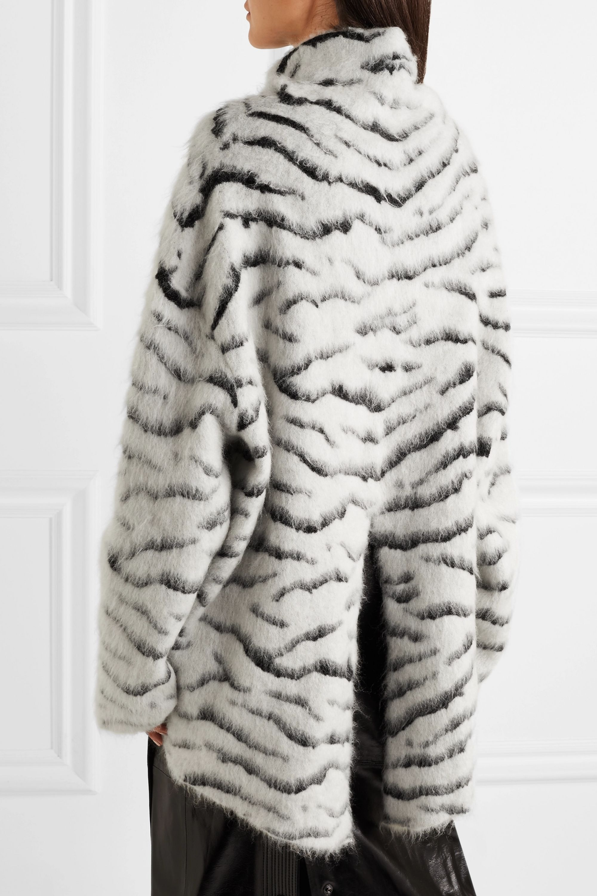 Givenchy Oversized turtleneck mohair-blend jacquard sweater