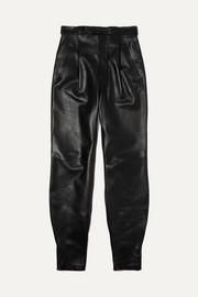 Givenchy Leather tapered pants