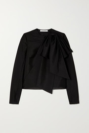 Givenchy Bow-detailed mohair and wool-blend top
