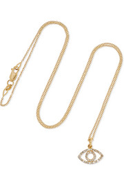 Empty Eye 18-karat gold diamond necklace