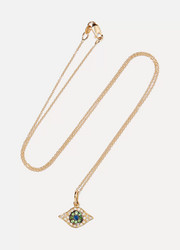 Ileana Makri Kitten Eye 18-karat gold multi-stone necklace