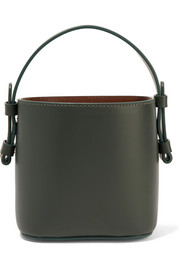 Adenia mini leather bucket bag