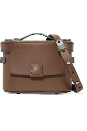 Frerea mini two-tone leather shoulder bag