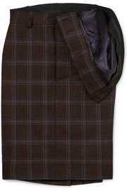 Y/PROJECT Asymmetric checked wool skirt