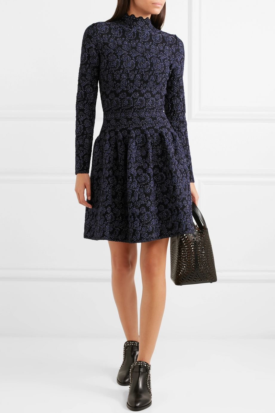 Alaïa Metallic jacquard-knit dress