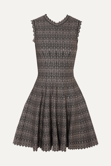 Metallic Jacquard Knit Mini Dress by Alaïa